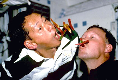 astronauts eating almonds in space - photo #16